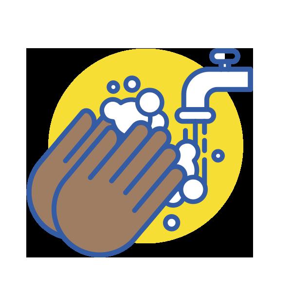 Lávate las manos frecuentemente con agua y jabón durante al menos 20 segundos